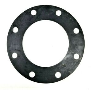"""1 PAIR, 6"""" X 1/8"""" EPDM FULL FACE Water Meter/Fitting Flange Gaskets"""