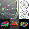 36Pcs Mixed Luminous Bicycle Wheel Plastic Spoke Beads Tire Wire Clip Decor