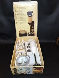 VTG BAMIX De Luxe M122 Immersion Blender Mixer Set in Original Box Tested WORKS