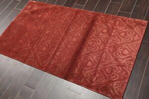 3' x 5' Hand Knotted Wool & Silk Tibetan Oriental Area Rug Contemporary Burgundy