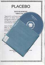 "PLACEBO ""SPECIAL K"" RARE PROMO CD SINGLE + SPANISH PRESS INFO SHEET"