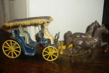 Vintage Cast Metal Horse and Carriage by  Stanley