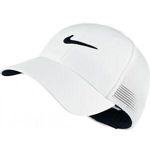 NEW! White [S/M] NIKE Adult Unisex MESH-FLEXFIT Cap Small/Medium
