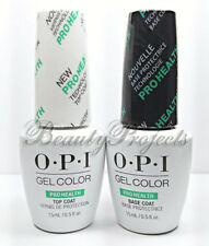 OPI GelColor Top Coat & Base Coat Prohealth Soak Off LED Gel .5oz +bonus! NEW