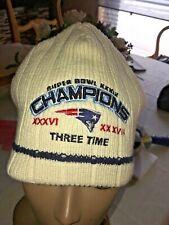 RARE REEBOOK New England Patriots New Era NFL Super Bowl L III  KNIT HAT