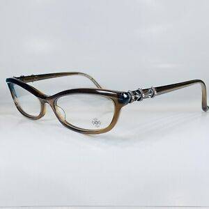 "NEW Chrome Hearts ""Love Mustard"" Glasses, 55-16, New With Case"