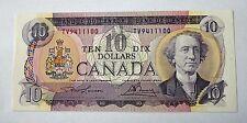 Canada 10 Dollar Bill 1971 Lawson-Bouey Prefix TV Banknote GUNC