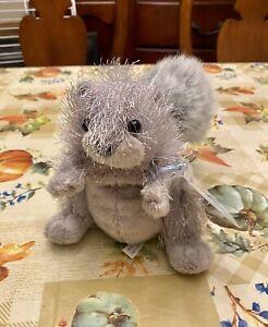 NEW Retired GANZ Webkinz Plush Stuffed Animal Grey Squirrel w/ Sealed Code Tag