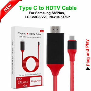 CAVO HDMI PER SAMSUNG GALAXY S8 4K TYPE-C A HDMI HDTV CAVO ADATTATORE 2 METRI