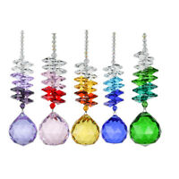 Rainbow Chakra Suncatcher Crystal Ball Prisms Hanging Window Pendant Home Decor