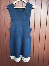 Icelandic Hand Knit ,Icelandic countryside style dress ,New knit blue dress