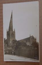 Postcard Chesterfield Church Real Photo Early Card unposted edwardian child A001