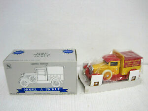 NOS Liberty Classics Massey Harris Limited Edition Ford Model A Pickup Coin Bank