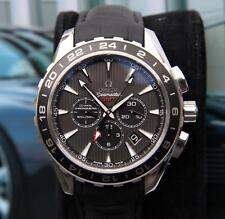 OMEGA Stainless Steel Case Wristwatches with 24-Hour Dial