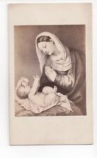 Vintage CDV Religious Painting by Paris Paschalinus Bordone Madonna & Child