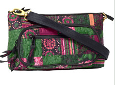 NEW DONNA SHARP CANTERBURY PATCH HEATHER CROSS BODY BAG Pink Rose Green