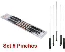5 Pinchos para Barbacoa 44,5 cm longitud,Acero inoxidable,jardin,camping,terraza