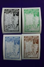 Deseret Stamp Club 1941 Coronado Centennial Banquet Dinner Philatelic 4 SLC UT