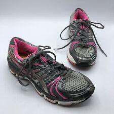Asics Gel Kayano 18 T250N Women Pink Gray Running Shoe Size 10 EUR 42 No Insoles