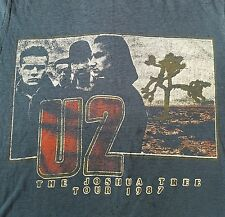 Rare Vintage 1987 U2 The Joshua Tree AMERICAN Tour T-shirt men's size M-L USA
