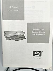 HP Deskjet 5400 Series printer Reference Guide / Manual