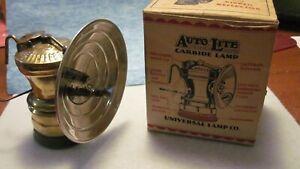 CARBIDE LAMP UNFIRED AUTOLITE IN ORIGINAL BOX COMPLETE ORIGINAL