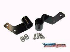 Jeep Wrangler 1987-95 YJ Skidrow Black Mirror Relocation Bracket Pair  JP-1019