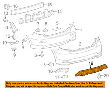 TOYOTA OEM 11-13 Matrix Rear Bumper-Filler Panel 5215102030