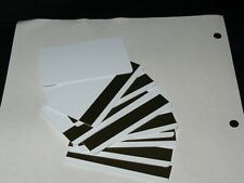 """Magnetic PVC Card 30 mil low Thermal Low White ID Plastic Card2.12"""" X3.38"""" 10PC"""