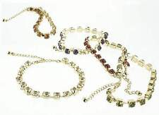 Bracelet in Gold Tone with Rhinestones and Chain. Lot of 288 for $0.50 each.
