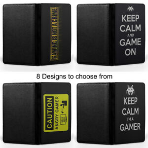 Gamer Gaming I am The Player Passport Holder Faux Leather Cover Case