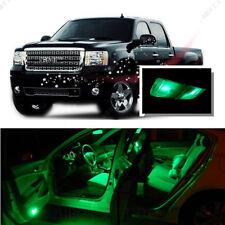 For GMC Sierra 1500 2500 3500 07-13 Green LED Interior Kit + Green License Light