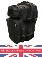 Black 28 Litre Molle Rucksack Daysack Pack Backpack Army Cadet Security Airsoft