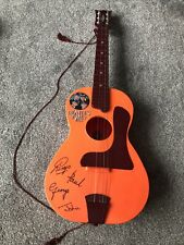 """More details for very rare unboxed beatles big 6 selcol orange toy guitar 1960""""s - free postage"""