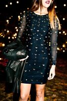 ALICE BY TEMPERLEY BLACK/ GOLD Sapphire Dress sizes 6-16  rrp £465 F3