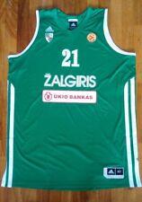 Canotta KAUKENAS ZALGIRIS KAUNAS camiseta FIBA jersey basketball LITHUANIA siena