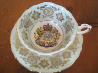 PARAGON CHINA 1959 QUEEN ELIZABETH ST. LAWRENCE SEAWAY CUP & SAUCER