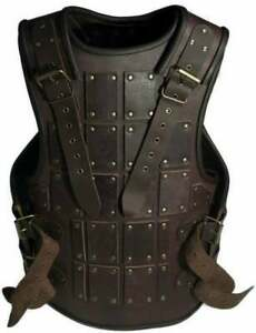 Medieval Brown leather Mercenarie Brigandine, Viking SCA renaissance Larp
