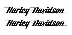 Harley Davidson Aufkleber Motorrad Biker Tattoo 2 Stück ca. 14 x 2 cm