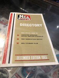 Motel Federation Of Australia (MFA) Directory 1965 Edition Ampol Advertising