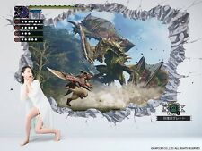 Japan  Monster Hunter Cross Wall Paper W300xH200cm Interior 66C