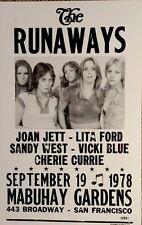 The Runaways playing at Mabuhay Gardens in San Francisco Poster