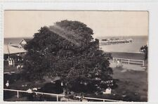 VINTAGE POSTCARD REAL PHOTO MANLY KIOSK AND JETTY QUEENSLAND  1900s
