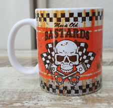 MEAN OLD BASTARDS TEA COFFEE MUG CUP WORKSHOP GARAGE OFFICE MOTORBIKE COOL GIFT
