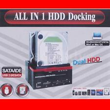 All-in1 2.5/3.5 '' SATA IDE Disco duro HDD Docking Station USB 2.0 HUB EU O3R2