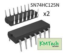 2 pcs Texas Instruments SN74HC125N Quad Tri-State Buffer with Datasheet