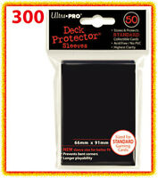 300 Ultra Pro BLACK DECK PROTECTOR 6 packs standard size card sleeves large MTG