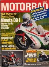 M8602 + Vergleich HONDA CBX 650 E vs. KAWASAKI Z 550 GT + MOTORRAD 2/1986