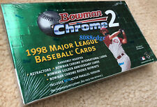 1998 BOWMAN CHROME SERIES 2 BASEBALL FACTORY SEALED HOBBY BOX: ROOKIE REFRACTORS