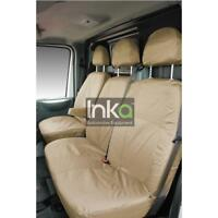 Ford Transit Front Inka Tailored Waterproof Seat Covers Sand MY 2006 to 2013